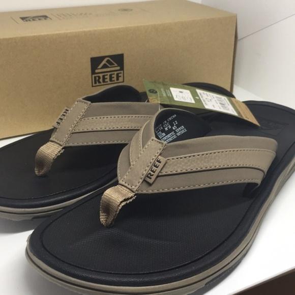 NEW Men/'s Reef Phoenix flip flop thong sandals in brown or black